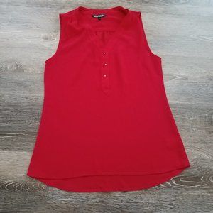 Express Red Sleeveless Blouse